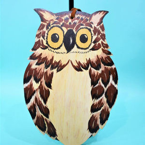 Vintage Wall Art - Vintage 1970s Wood Owl Wall Hanging
